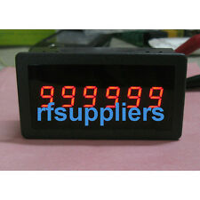 "6 Digital Display Counter Reversible Settable Panel DC12V 24V Relay 0.56"" LED"
