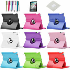 360 Rotating PU Leather Case Smart Cover Stand for iPad 2 iPad 3 iPad 4