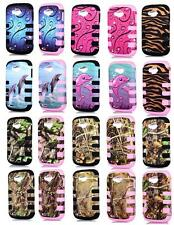 Phone Case For Straight Talk ZTE Savvy Z750C Tri-Layered Rugged Rib Cover