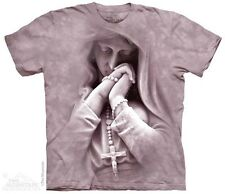 THE MOUNTAIN IN PRAYER ROSARY CHRISTIAN VIRGIN MARY CATHOLIC T TEE SHIRT S-5XL