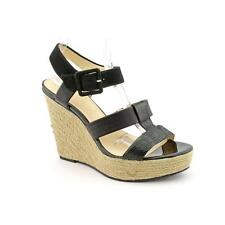 Calvin Klein Ellison Womens Open Toe Leather Wedge Sandals Shoes