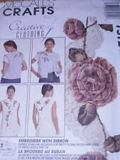 MCCALL'S PATTERN 7572 VEST CHRISTMAS SZ 8-22 INCLUDED-INSTR FOR RIBBON EMBROIDER