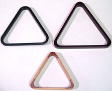 SNOOKER / POOL TRIANGLES IN VARIOUS COLOURS AND SIZES