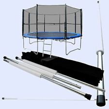 Set of Replacement Trampoline Safety Net Surround Tubes Poles Fixings INCLUDED