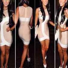 NEW rayon nude bandage dress strappy evening party Dress XS-L HL326
