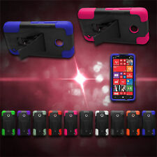 Hard Soft Protective Armor Cover For Nokia Lumia 635 Hybrid Phone Case