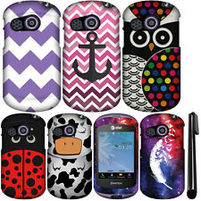 For Pantech Swift P6020 PATTERN HARD Protector Case Phone Cover Accessory + Pen