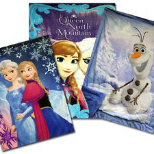 "Disney Frozen 59"" x 78"" Royal Plush Mink Raschel Twin Blankets"