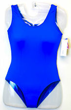NEW TANK LEOTARD BODYSUIT BAL TOGS FRONT LINED ROYAL SILKTECK womens