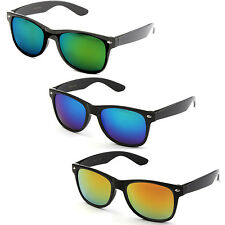 Classic Retro New Hipster Style Cool Reflective Revo Color Lens KY8032RVBK Multi