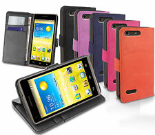 SLIM FLIP STAND WALLET LEATHER CASE FOR EE KESTREL 4G PHONE HUAWEI