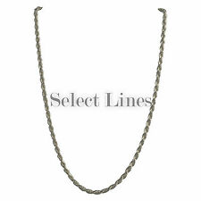 Sterling Silver Diamond Cut Rope 3mm Necklace Chain Italian Italy Solid .925