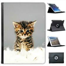 Cute Kitten Cat Folio Wallet Leather Case For iPad Air
