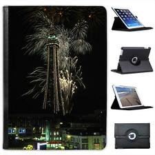 Fireworks over Blackpool Tower, Blackpool, England Leather Case For iPad Air
