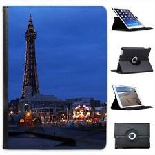 Blackpool Tower & Blackpool Seafront Lit Folio Wallet Leather Case For iPad Air
