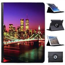 Brooklyn Bridge New York Illuminated At Night Folio Leather Case For iPad Air