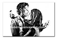 BANKSY BRISTOL MOBILE LOVERS PHONE COUPLE CANVAS PRINT - FREE DELIVERY