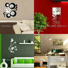 3D Modern Design Frameless Large Wall Clock DIY Home Room Decor Watches Hours