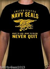 UNITED STATES NAVY SEALS NEVER QUIT T-SHIRT SIZES SMALL TO 4XL NEW!!