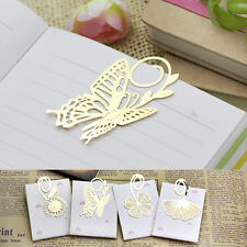 1pc Novelty Gift Gold Metal Clip Kid Reading Book Magazine Mark Label Bookmark