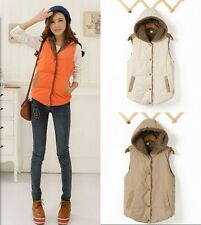 Women's Fashion Solid Color Velvet Hoodie Casual Tops Vest W4221 HUK
