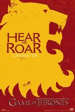 New Game Of Thrones Lannister Si Hear Me Roar GoT Poster