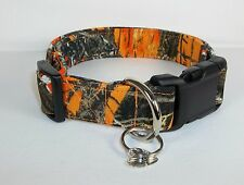 Blaze Orange True Timber MC2 Camo Dog Collar custom made adjustable hunting