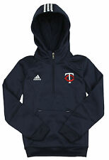 Adidas MLB Baseball Youth Minnesota Twins Sideline Player Pullover Hoodie - Navy