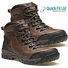 MENS DICKIES CALDER LEATHER SAFETY WORK ANKLE BOOTS STEEL TOE CAP SHOES SIZES