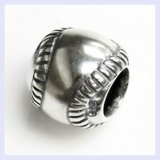 Sterling Silver Sport Baseball Leisure Exercise Bead for European Charm Bracelet