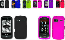 Any Solid Rubber Feel Skin Hard Case for LG Expression C395C Slider Phone
