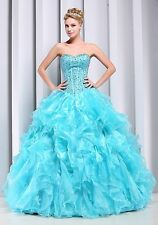 2014 Quinceanera Formal Prom Evening Party Ball Gown Wedding Dress All Size S-XL