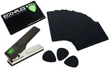 10 x Plectrum Pick Material Sheet Cards For Pickmaster Pick Maker Black or White