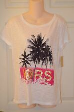 Michael Kors Palm Tree Graphic T-Shirt Logo MK-Brand New-Various Sizes