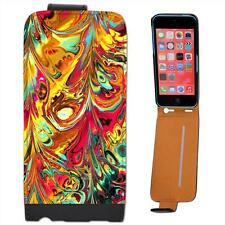 Crazy Paint Mad Mix Contemporary Design Fun Lively Leather Case for iPhone 5C