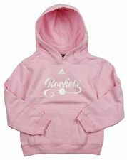 Adidas NBA Basketball Girls Houston Rockets Pullover Hoodie - Pink