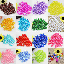 Jewelry Making/Findings 100pcs 10mm Acrylic Pearl Spacer Loose Round Beads