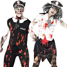 Zombie Police Man or Woman Halloween Mens Ladies Fancy Dress Uniform Costume