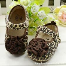 Leopard Flower Kids Baby Girl Soft Crib Shoes Anti-Slip Breathable Toddler Shoes