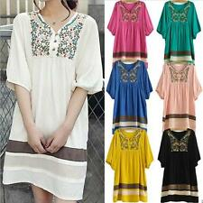 2014 Women Lady Embroidered Maternity Loose Dress Pregnant Short Sleeve Dresses