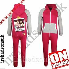 "♥Kids Girls One direction ""I LOVE YOU XX"" Print All In One PJ'S Jumpsuit Onesie♥"
