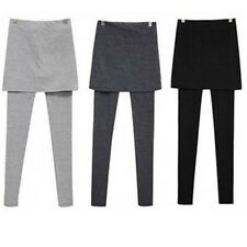 Women's Soft Cotton Stretch Skirt Lounge Leggings Tights 2 in 1 Pants Free Ship