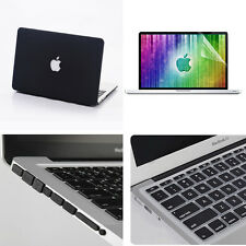 4in1 Black Matte Rubberized Hard Case Skin For Macbook Air Pro 11'' 13'' 15''