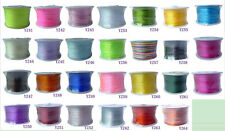 New 100 Yard 1MM Nylon Satin Rattail Thread Cord For Jewelry Making