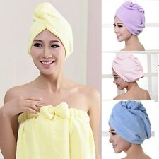 Womens Cheap Quick Microfiber Hair Drying Cap Washclothes Turban Towel for Bath