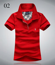 New polo women's Short sleeve classic-fit cotton mesh polo shirt tee golf tops