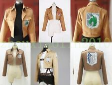 Hot Anime Attack on Titan Shingeki no Kyojin Eren Cosplay Jacket Coat Costumes