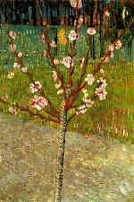 ALMOND TREE IN BLOSSOM FLOWERS 1888 IMPRESSIONIST PAINTING BY VAN GOGH REPRO