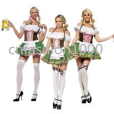 GRETCHEN GERMAN BEER GIRL Fraulein Dirndl Oktoberfest Party Costume NEW M