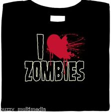 I Heart Zombies Shirt, Halloween, Undead,Warm Bodies, Chomp, Goth, Sm-5X